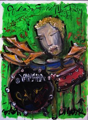 Painting - John Jr Robinson Painted Live At Colorado Sound Studios by Laurie Maves ART
