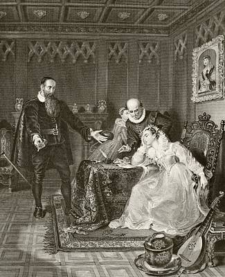 John Knox Admonishing Mary Queen Of Art Print