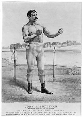 John L. Sullivan (1858-1918) Art Print