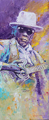 Jazz Legends Wall Art - Painting - John Lee Hooker 01 by Yuriy Shevchuk