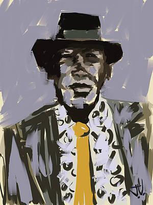 Digital Art - John Lee Hooker by Jim Vance
