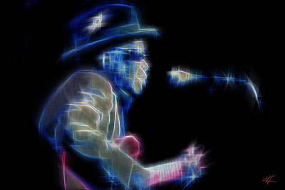 Digital Art - John Lee Hooker by Kenneth Armand Johnson