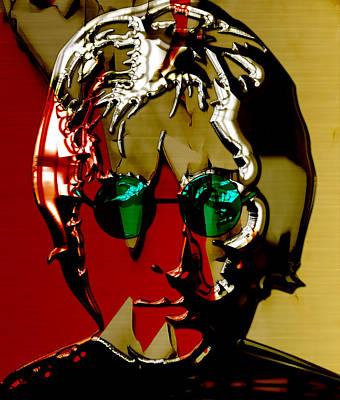 Rock Mixed Media - John Lennon Art by Marvin Blaine