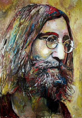 Las Vegas Artist Painting - John Lennon - Beatles by Marcelo Neira