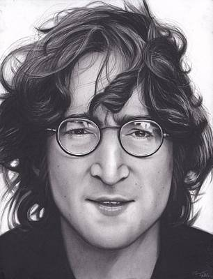 Charcoal Drawing Drawing - John Lennon by Brittni DeWeese