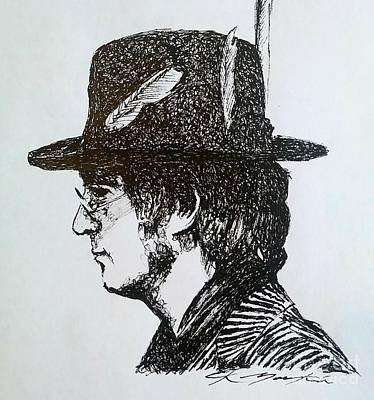 Drawing - John Lennon by Chris Mackie