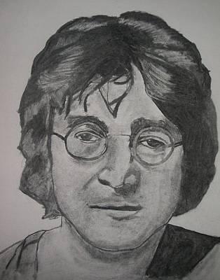 Ringo Drawing - John Lennon by Christian Fralick