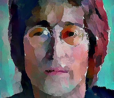 Beatles Life Music Digital Art - John Lennon Colors 1 by Yury Malkov