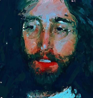 Beatles Life Music Digital Art - John Lennon Colors 6 by Yury Malkov