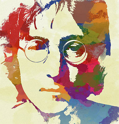 Humanitarian Mixed Media - John Lennon by Dan Sproul