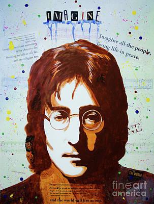 Painting - John Lennon by Deb Breton