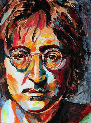 Derek Russell Wall Art - Painting - John Lennon by Derek Russell