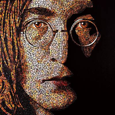 Mixed Media - John Lennon by Doug Powell