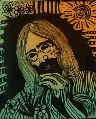 Painting - John Lennon by Gayland Morris