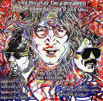 Musicians Photo Royalty Free Images - John Lennon Graffiti Prague Royalty-Free Image by Mihaela Pater