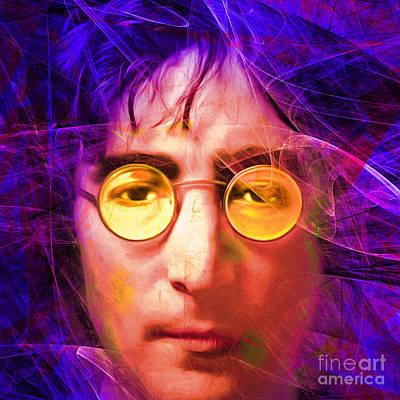 Photograph - John Lennon Imagine 20160521 Square V3 by Wingsdomain Art and Photography