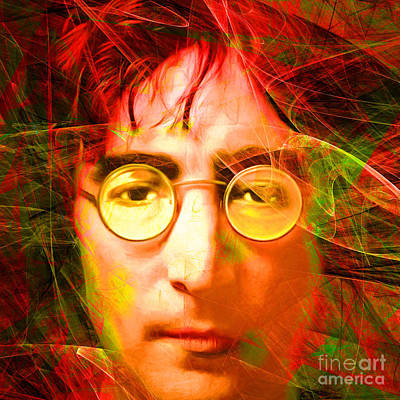Photograph - John Lennon Imagine 20160521 Square by Wingsdomain Art and Photography