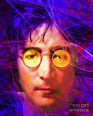 Flower Child Digital Art - John Lennon Imagine 20160521 V3 by Wingsdomain Art and Photography