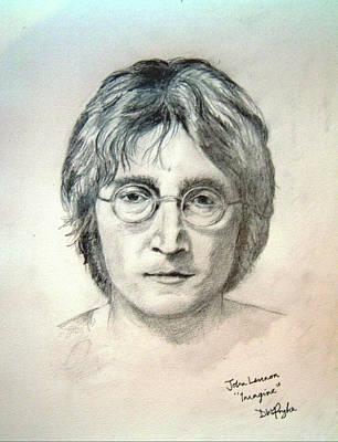 Wall Art - Digital Art - John Lennon Imagine by Digital Painting