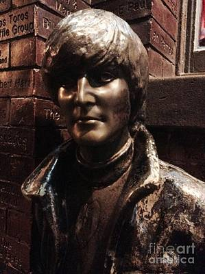 Photograph - John Lennon In Bronze  by Joan-Violet Stretch