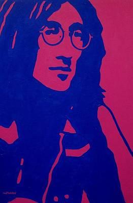 The Beatles Art Painting - John Lennon by John  Nolan