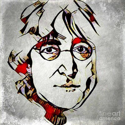 Mixed Media - John Lennon by Lita Kelley