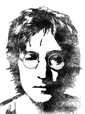Music Lover Digital Art - John Lennon by Mihaela Pater