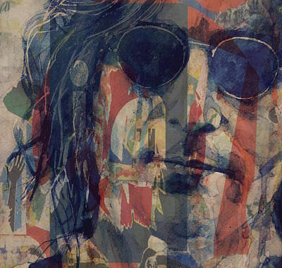 Poster Mixed Media - John Lennon - Mind Games by Paul Lovering