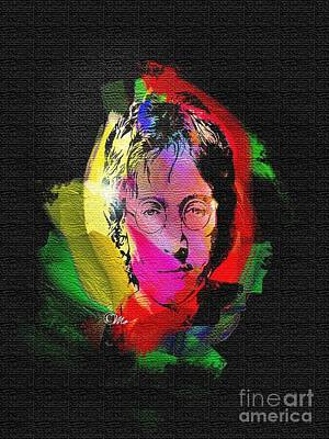 John Lennon Art Print by Mo T