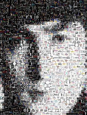 John Lennon Mosaic Art Print by Paul Van Scott