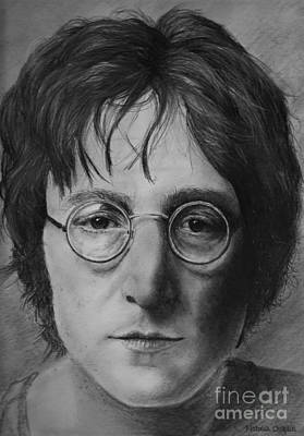 Icon Drawing - John Lennon by Natalia Chaplin