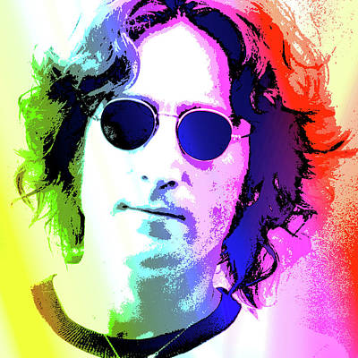 Musician Digital Art - John Lennon - Nyc by Greg Joens