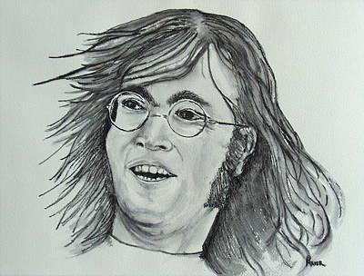 John Lennon Portrait Drawing - John Lennon by Pete Maier