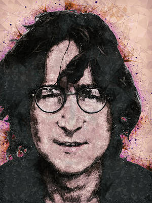 Mixed Media - John Lennon Portrait by Studio Grafiikka