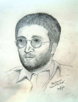 Wall Art - Digital Art - John Lennon Power To The People by Digital Painting