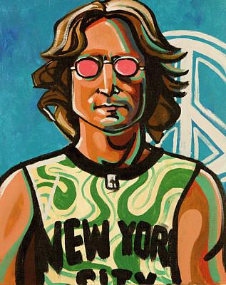 Musician Painting - John Lennon by Rob Tokarz