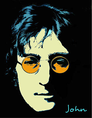 Digital Art - John Lennon by Rumiana Nikolova