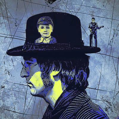 Young Digital Art - John Lennon by Russell Pierce