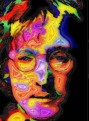 Fab Four Digital Art - John Lennon by Stephen Anderson