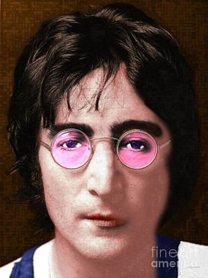 Flower Child Digital Art - John Lennon The Beatles 20160522 by Wingsdomain Art and Photography