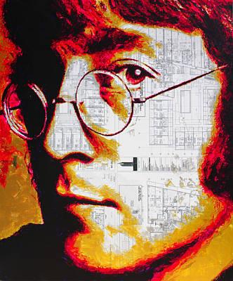 Painting - John Lennon The Beatles by Havi