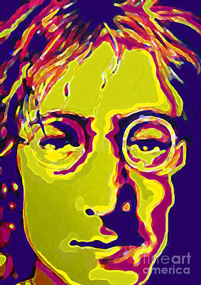 Sgt Pepper Beatles Painting - John Lennon The Beatles  by Margaret Juul