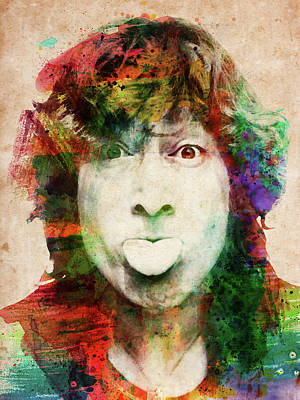 Digital Art - John Lennon Tongue Out by Mihaela Pater
