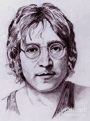 Drawing - John Lennon by Toon De Zwart