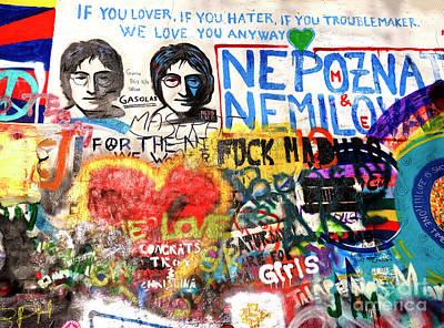 Photograph - John Lennon Wall Prague by John Rizzuto