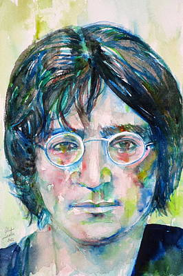 Painting - John Lennon - Watercolor Portrait.8 by Fabrizio Cassetta