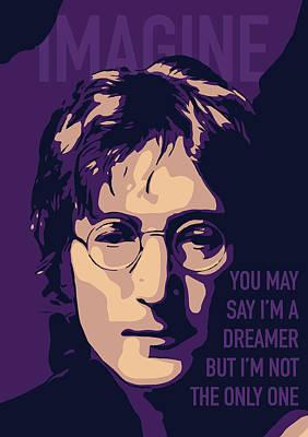 John Lennon Art Print by Yeliz Atik