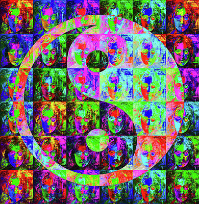 Royalty-Free and Rights-Managed Images - John Lennon Yin Yang by Stephen Humphries