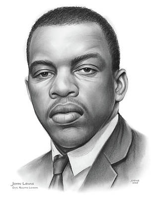 Drawings - John Lewis by Greg Joens