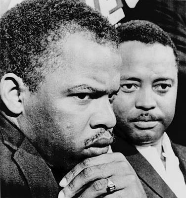 Discrimination Photograph - John Lewis Left And Hosea Williams by Everett